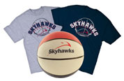 Double Roll Athletics T-shirts & Skyhawks Basketball Image