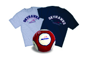 Double Roll Athletics T-shirts & Skyhawks Soccer Ball Image