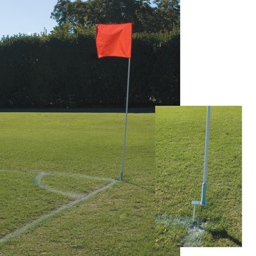 Red Corner Flags Image